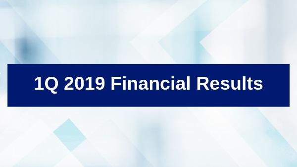 2019 First Quarter Financial Results Thumbnail